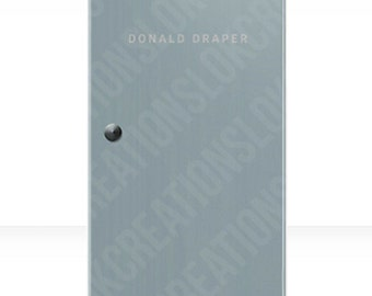 Mad Men Don Draper Office Door - Phone Case. iPhone 6s/6/5s/5/5c/4s/4 iPod Touch 4th and 5th Gen Samsung Galaxy S2/S3/S4/S5 (Hard Case)