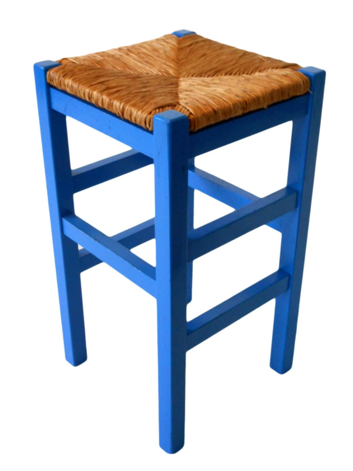 wooden bar stool with rush seat kashiori