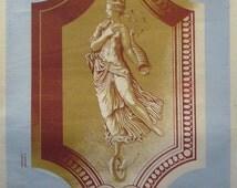 1940 French Art Deco Poster, Loterie Nationale Advertisement 'Renaissance Francaise' - Derouet-Lesacq