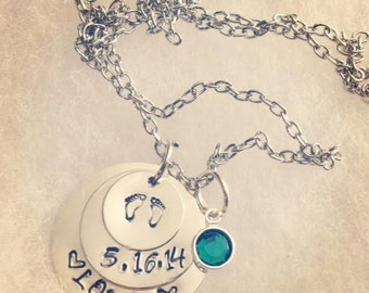 New Baby Personalized Necklace
