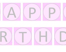 Ballet Tutu Banner, Ballerina Birthday, digital PRINTABLE FILE