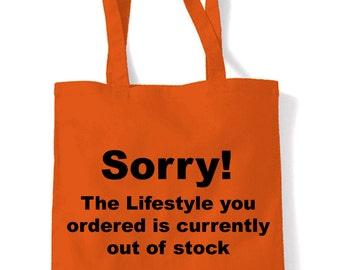 Banksy Sorry Shopping Bag