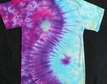 Yin Yang Tie Dye Shirt, Adult - Pink/Purple/Blue/Green