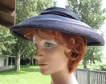 1940s Navy Wide Brimmed Hat
