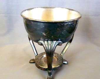 Vintage Silver Plated Chafing Dish Warmer