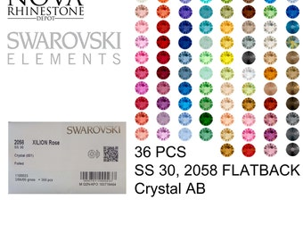 SS 30 Swarovski Element Flatback Not Hotfix 2088 CRYSTAL AB 36pcs