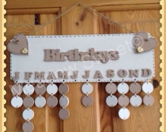 Birthday Reminder Plaque/Board
