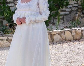 Handmade Cream Juliette Style Dress - Free Shipping
