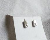 White Topaz Stud Earrings in Sterling Silver