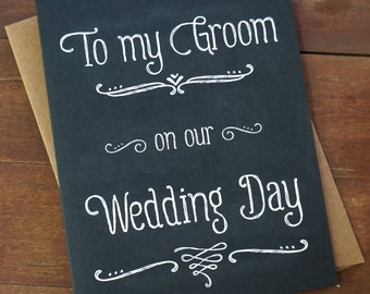 To My Groom On Our Wedding DayWedding Day CardGroom GiftGroom ...