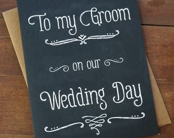 Best Wedding Present For Bride From Groom : ... Wedding Day - Wedding Day Card - Groom Gift - Grooms gift from bride