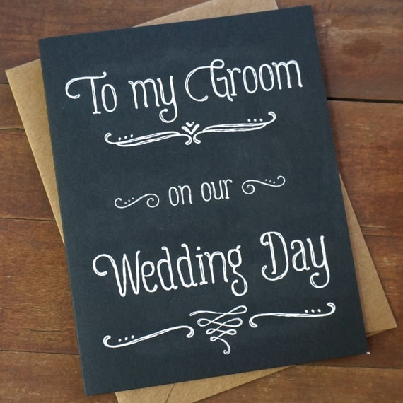 Wedding Gift From Groom To Bride On Wedding Day : ... Wedding Day - Wedding Day Card - Groom Gift - Grooms gift from bride