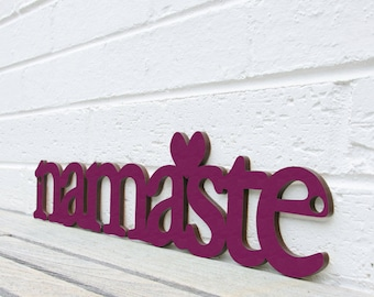 Namaste (yoga, om, meditate)