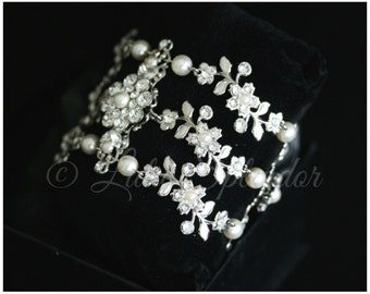 Wedding Cuff Bracelet Vine Bracelet Leaf Cuff Bracelet Bridal Jewelry  AMY