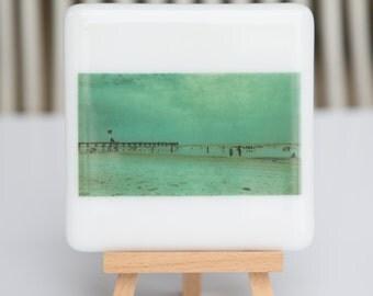 Fused Glass Coaster - Jacksonville Beach Pier