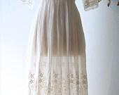 RESERVED//dwardian Wedding Dress / Vintage Cotton Lace Wedding Dress