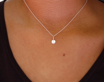 Mini Sterling Silver Disk Necklace