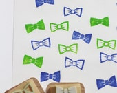 bow tie rubber stamp | ribbon stamp | planner stamp | birthday wedding scrapbooking | diy gift wrapping | hand carved by talktothesun