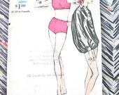 Uncut Vogue 6240 Vintage 1960s Mod Swimsuit Bathing Suit Jacket Sewing Pattern  Bust 34 inches
