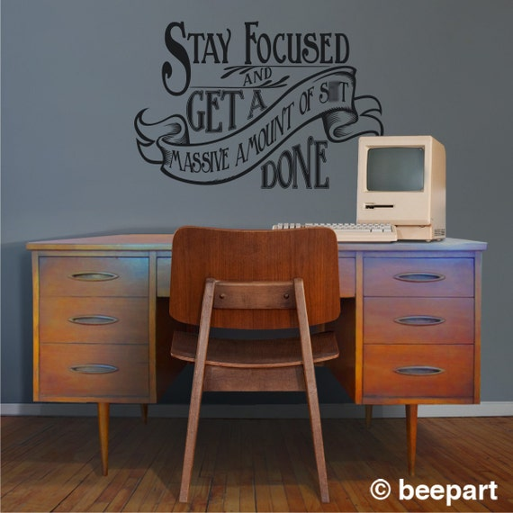Motivational Quote Wall Decal Office Vinyl Sticker Art By