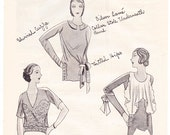 1930 Three Blouses from Paris Worth Maggy Rouff magazine fashion illustration designer Art Deco women separates to frame - Free USA shipping