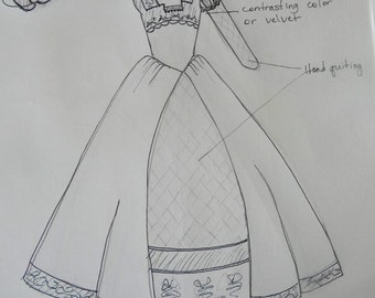 Renaissance Dress, Elizabethan, Tudor, Costume, Bridal Gown - LAY AWAY AVAILABLE