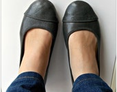 LUNAR- Ballet Flats - Leather Shoes - 39 - Gunmetal Grey. Available in different colours & sizes
