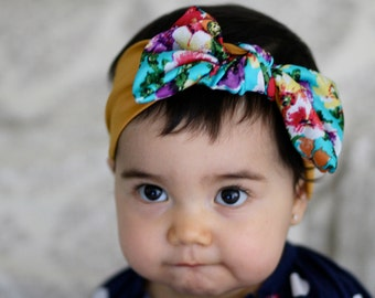 Bow turban headband