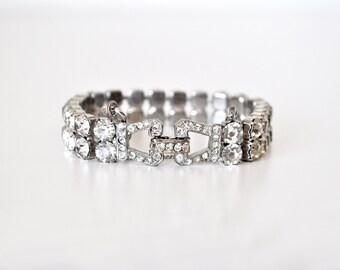 Weiss Double Rhinestone Bracelet