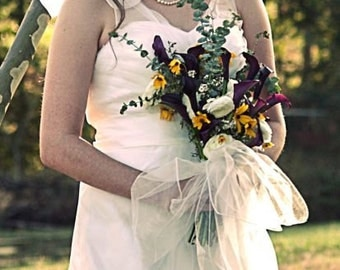 Rustic Wedding Dress with straps