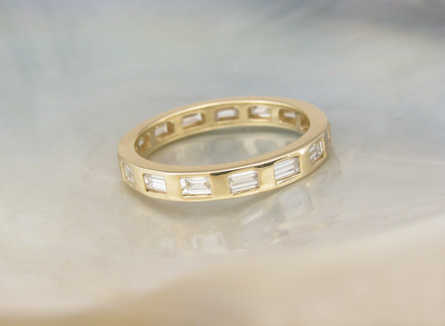 baguette eternity band anniversary ring by