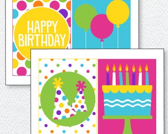 Pretty Polka Dot Party PRINTABLE Birthday Favor Tags by Love The Day