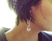 40% OFF SALE Raw Amethyst Earrings Sterling Silver Earrings Rustic Gemstone Jewelry Purple Amethyst Authentic gemstone Earrings Boho Jewelry