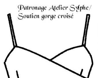 Paper pattern to sew and do a Criss cross bra small size A/B cup