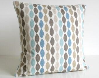 Throw Pillow Cover, Pillowcase, Accent Pillow Cover, Decorative Pillow Sham, 16x16 Pillow Cover, 16 Inch Pillowcase - Gemstone Duck Egg