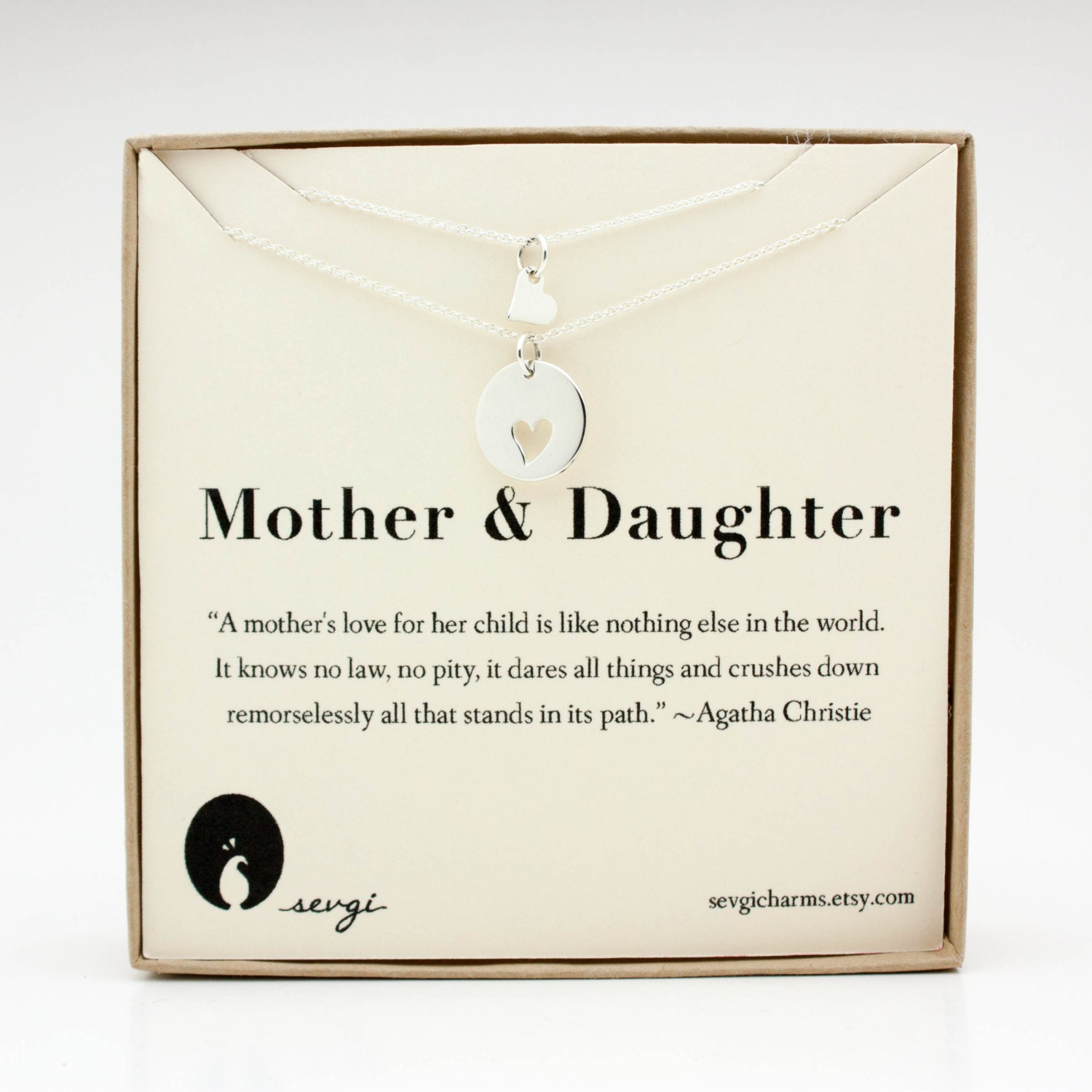 Mother Daughter Necklace Set Kids & Baby . Sterling Silver