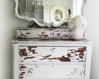 R O C O C O Mirror Vintage Wide Framed Shabby Chic Design