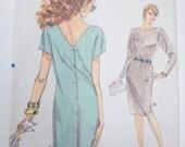 Vintage Vogue Pattern 7179, Misses Straight Dress Pattern, Very Easy Very Vogue, Size 12 thru 16, Un Cut, Vintage Sewing Notions
