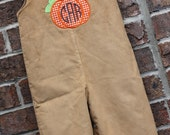 Boys Pumpkin Longall -- Perfect for Fall and Thanksgiving