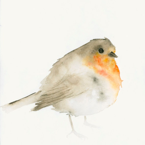 Robin Watercolor Print