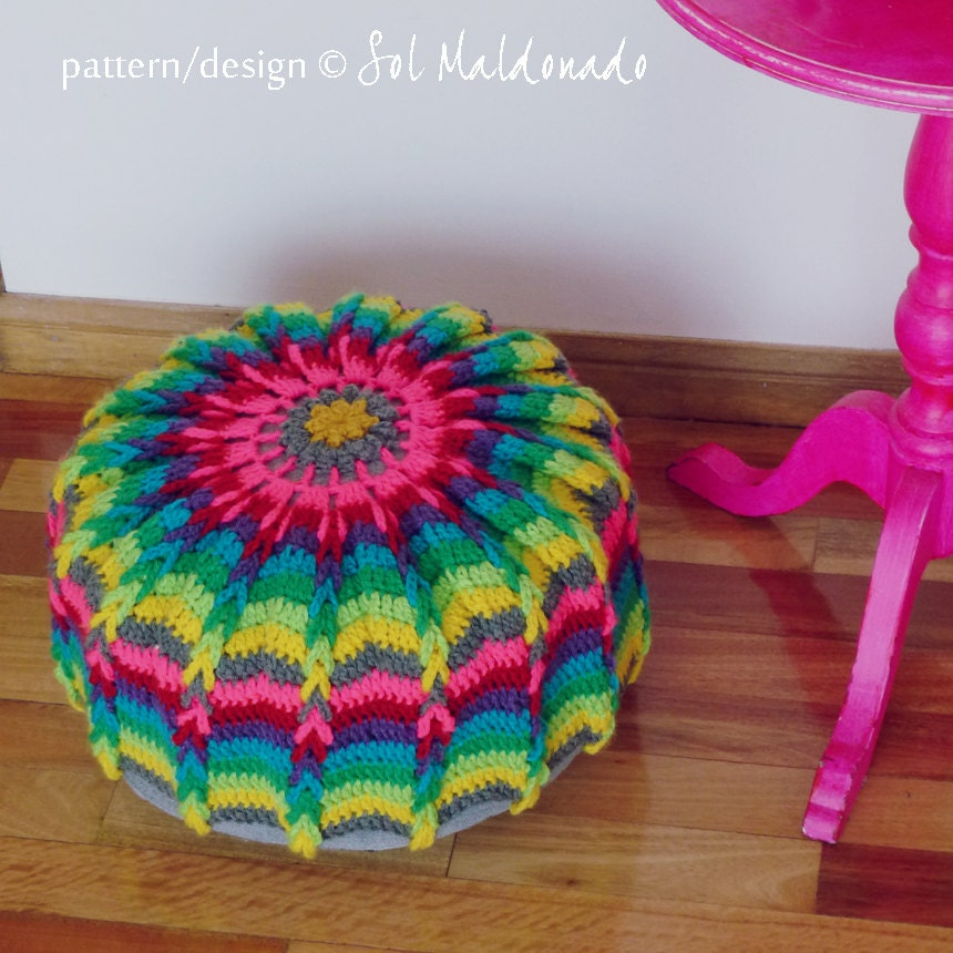 Free Crochet Pattern Floor Pillow ~ Dancox for .