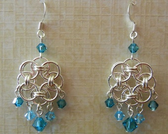 Celtic Helm Dreamcatcher Chainmaille Earrings