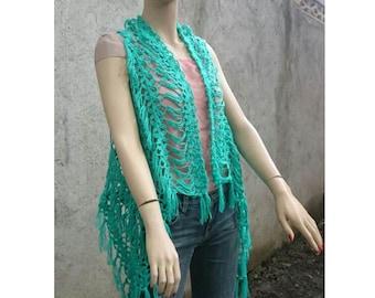 INSTANT DOWNLOAD Splendid One Size Vest – Shrug  Summer Crochet Pattern
