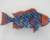 University of Florida Bottlecap Art Metal Bottle Cap Fish Grouper