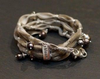 Willow/velvet warrior wrap/bracelet/necklace/ALCCREATIONS