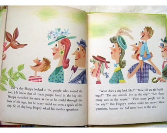 HALF PRICE Hoppy the Curious Kangaroo Children's Wonder Book Mid Century Illustration by Stan Fraydas 1975 Printing