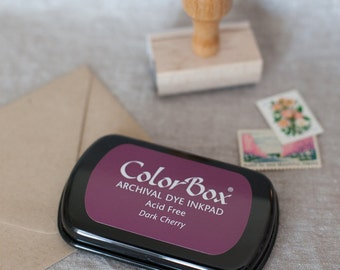 Dark Cherry red ink pad - Colorbox Archival Dye Ink Pad for rubber stamps