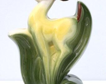 Art Deco 1940's Vase/Planter Gazelle Antelope