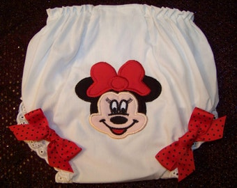 Minnie Mouse Diaper Cover / Disney / Double Seat / Mickey / Newborn / Infant / Toddler / Baby / Girl / Birthday / Custom Boutique Clothing