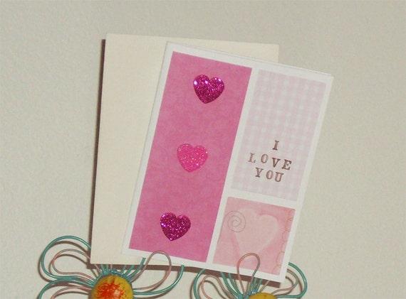 I Love You Card- Love Card - Heart Card- Anniversary Card- Valentines Day Card - Hearts- I love you - Love